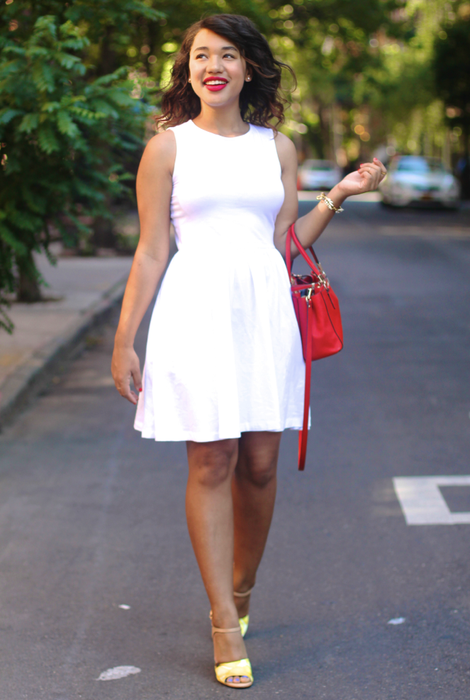 White bow dress asos