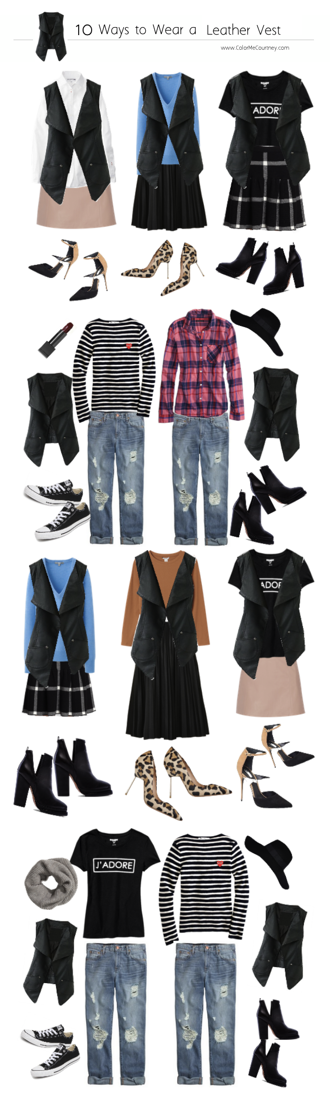 100 outfits create 100 outfits from 10 pieces 10 pieces 100 outfits what to wear for fall fall style guide fall shopping guide what to buy fro fall fall fashion fall fashion guide how to dress for fall what to wear for fall fall fashion guide how to wear a vest 10 ways to wear a vest ten ways to wear