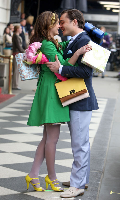 Ed and Leighton's colorful kiss