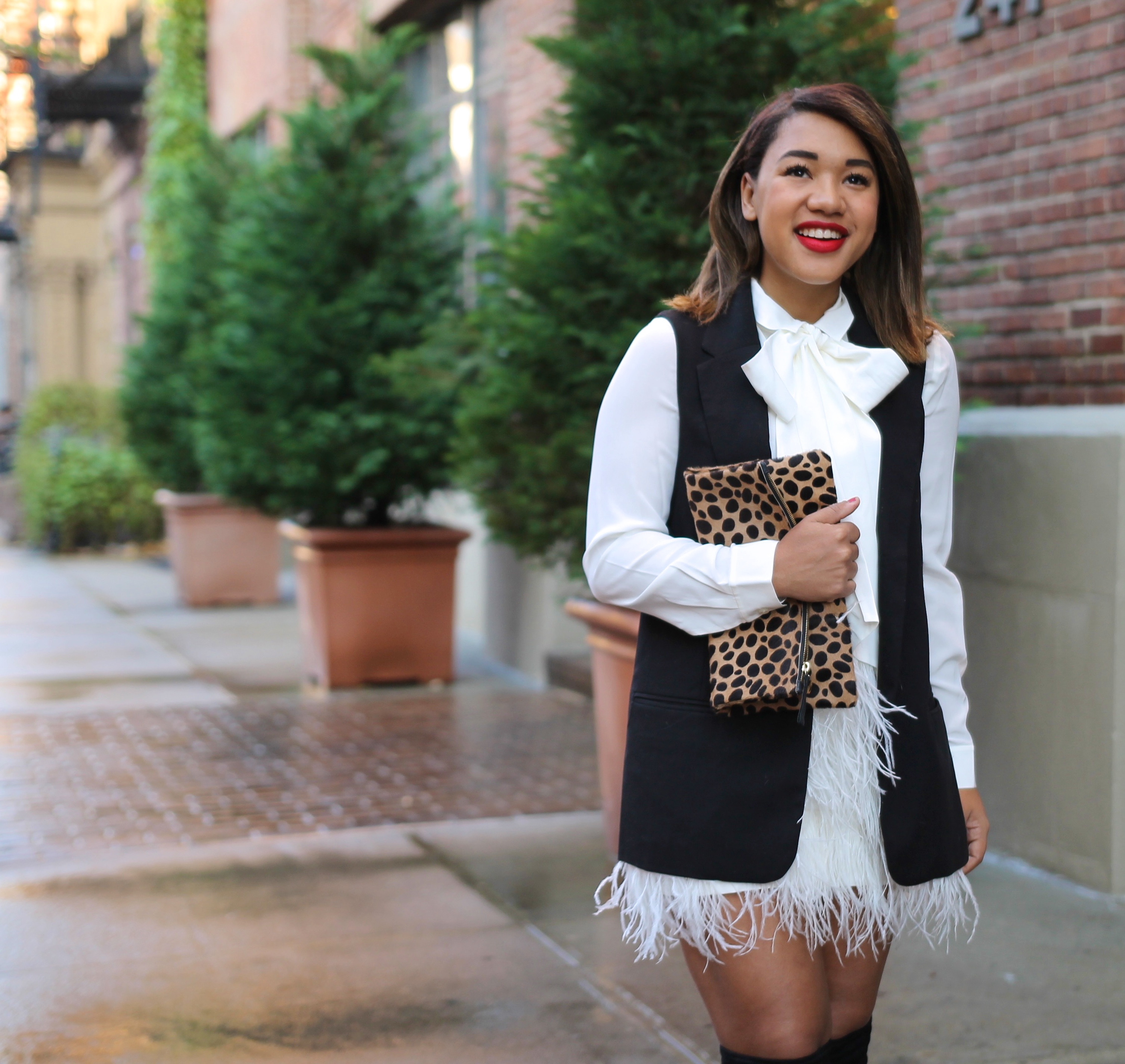 Holiday Style Feathered Skirt